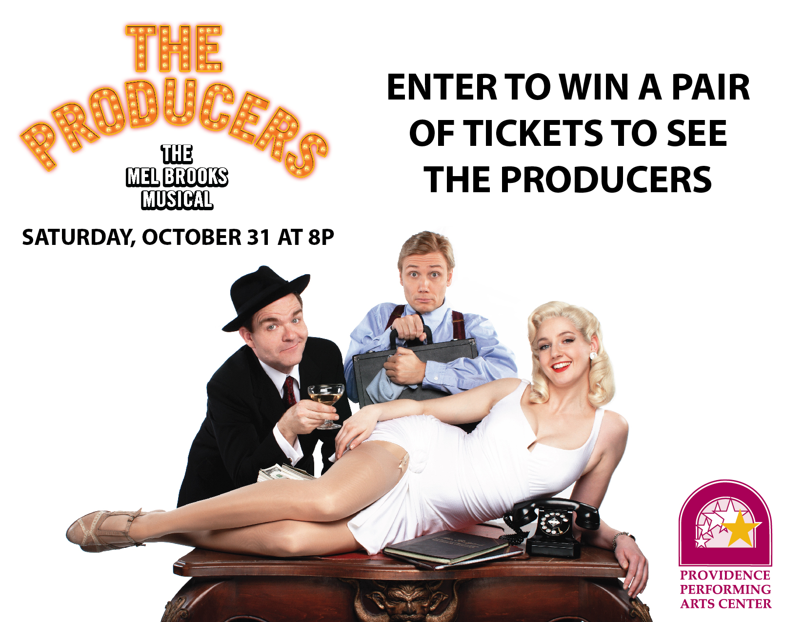 """Read more about the article Enter to Win A Pair of Tickets to PPAC's """"The Producers"""" at The Columbus Weekend Festival"""