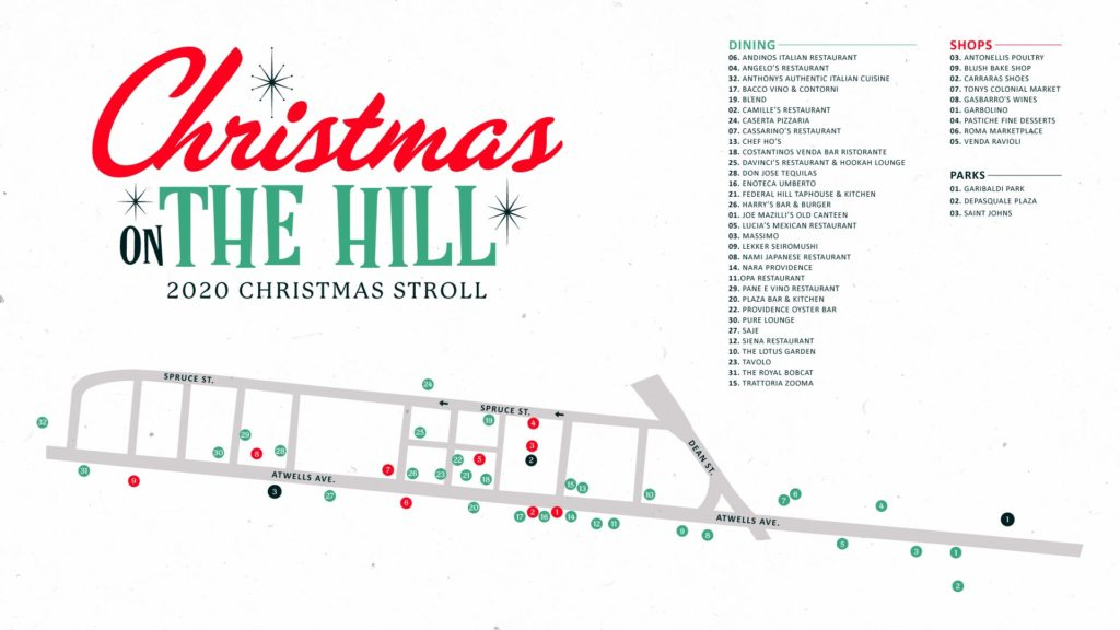 Federal Hill Map X-Mas Stroll 2020
